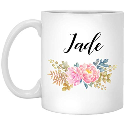 Personalized Name Gifts - Hayley flower Coffee Mugs - Birthday gift for Hayley, Women, Sister - Tea Cups White 11Oz