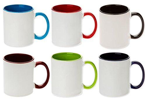 Qty 36 Premium Quality MIXED Color Tone Sublimation Blank Mugs (36 pieces) - ORCA Coated.