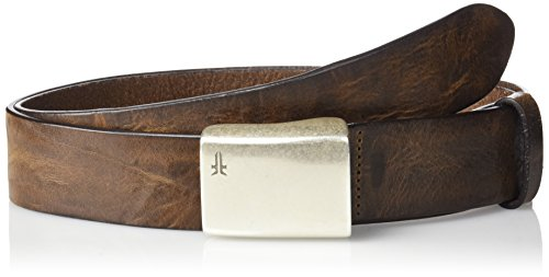 Frye Men's Signature Washed Leather Plaque Belt Antique P...