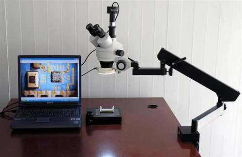 7X-45X Trinocular Articulating Zoom Microscope + 1.3M USB Camera by AmScope