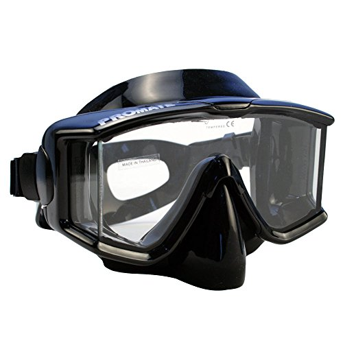 - Promate Side-view Edgeless Scuba Diving Snorkeling Purge Mask, AB