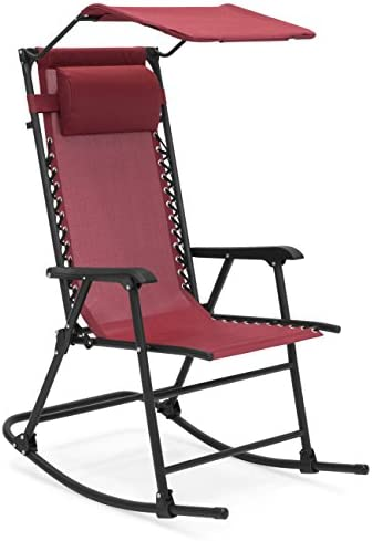 Editors' Choice: Best Choice Products Foldable Zero Gravity Rocking Patio Chair w/ Sunshade Canopy