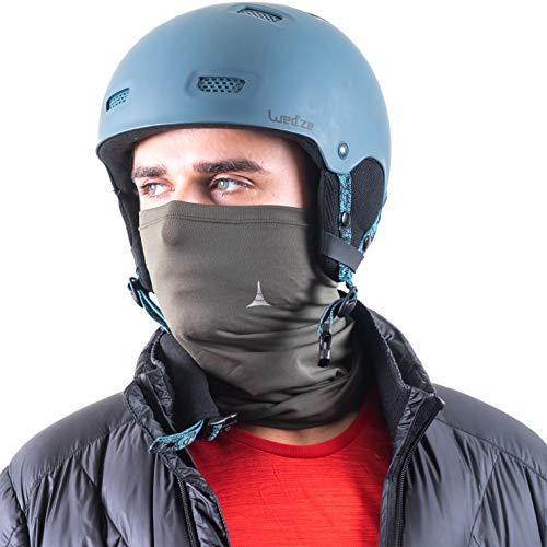French Fitness Revolution Fleece Neck Warmer [Solids] / Reversible Neck Gaiter Tube, Ear Warmer Headband, Mask & Beanie. Ultimate Thermal Retention, Versatility & ()