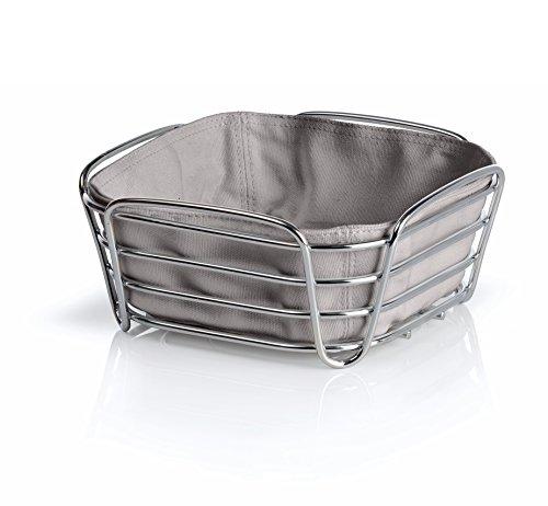 Blomus DELARA Small Bread Basket, Taupe 8 inch - 63667