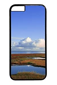 Clouds landscapes Custom For Iphone 4/4S Case Cover Polycarbonate Black