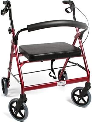 Vilgo - Andador de 4 ruedas con ruedas, plegable, 180 kg: Amazon ...