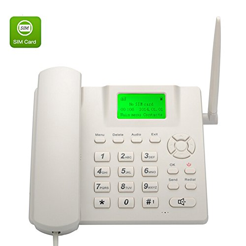 Sourcingbay Wireless Quad Band GSM Desk Phone - 2.4 Inch LCD Screen, Rechargeable Battery, Caller ID, Redial (Unlocked Quad Band Gsm Phone 4g compare prices)