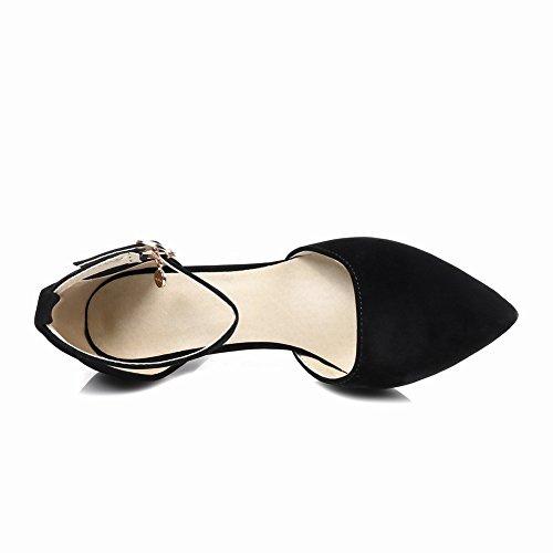 Charm Foot Womens Elegant High Heel Ankle Strap DOrsay Shoes Black hDNTgLEN
