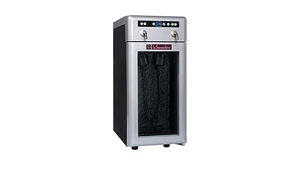 Dispensador de vino por copa DVV22 - La Sommelière - Ideal para mantener la temperatura ideal de su vino durante la degustación y protegerlo de la oxidación ...