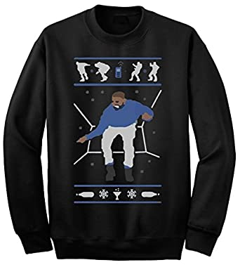 Adult Hotline Bling Drake Ugly Christmas Sweater Crewneck at ...