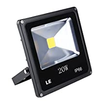 LE 20W Super Bright Outdoor LED Flood Lights, 200W Halogen Bulb Equivalent, Daylight White, Security Lights, Floodlight
