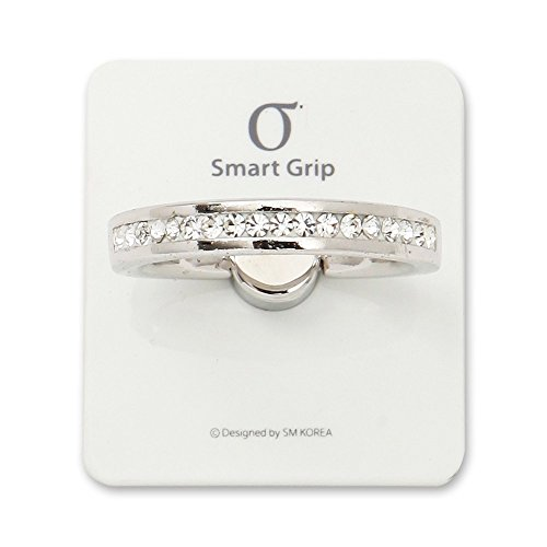 Orchard Crystal Plates - SMARTGRIP Bvan.G B3 Rotation Smartphone Mount Holder Ring Stand For iPhone Galaxy (White Crystal)