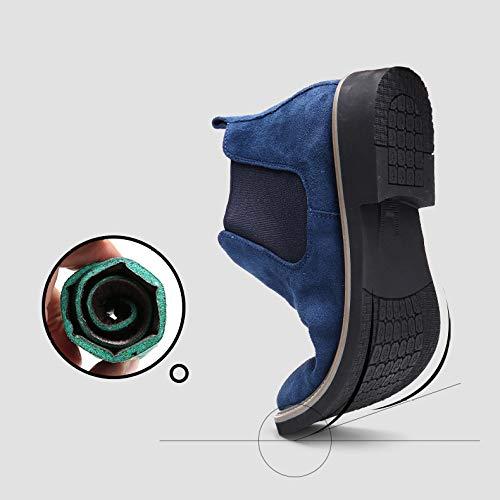Sposa WKNBEU Lavoro Uomo Chelsea Marrone Suede Ufficio Grigio Nero Uomo Blu Boots A Stivaletto Antiscivolo Booties Vintage Formale Martin Business CzwSrCq