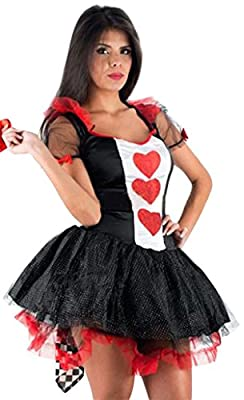 Deluxe Sexy Royal Queen of Hearts Adult Costume Halloween Fancy Dress Outfit