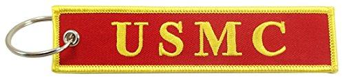 Motorcycle Corps Marine - US Marine Corps, USMC - Semper Fi, Embroidered Key Chain