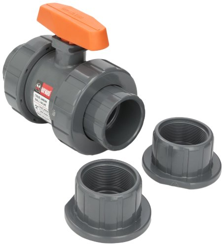 Tb Seals - Hayward TB1200ST 2-Inch PVC TB Series Ball Valve with Viton Seals and Socket/Threaded End Connection