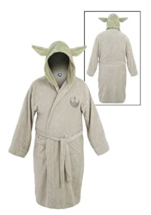 Star Wars Green Yoda Unisex Hooded Cotton Robe - One Size Fits All