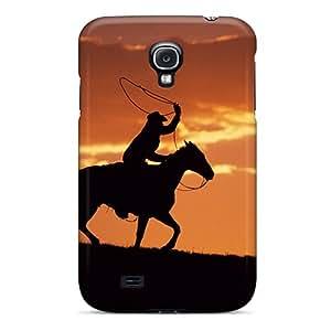 Best Hard Phone Cover For Samsung Galaxy S4 With Custom Colorful Western Cowboy Skin RandileeStewart