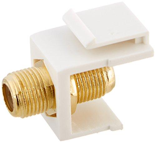 - Sterene 310-416WH-10 White Single F to F Gold Keystone Insert