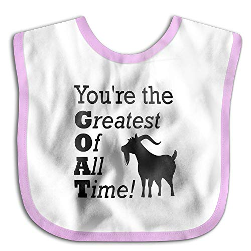 Safe Cotton Kids Lunch Bibs Greatest Time Of Goat Baby Saliva Towel Cute Feeding Snap