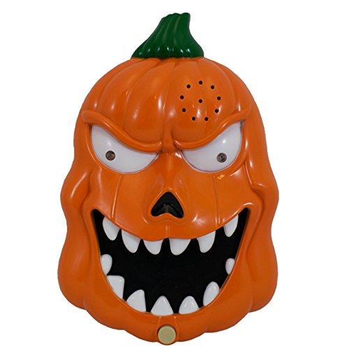 TRIXES Light up Speaking Pumpkin Halloween Talking Door Bell -