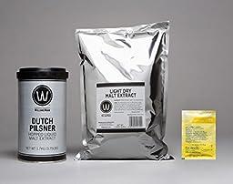 Premium Dutch Pilsner No Boil Complete Beer Kit, Makes 5-6 gallons