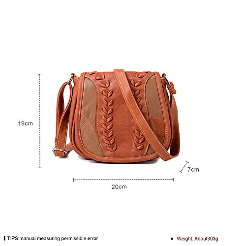 Monday Week Leather Cross Cyber Handicrafts Purse Genuine Women's Clearance Brown Gifts Shoulder Bag Style for Deals Black Bag Christmas Vintage Handmade Saddle Women Body Sale dfwEqw