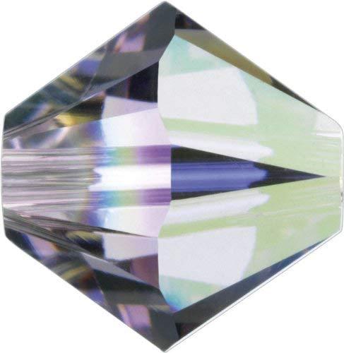 36 pcs - Swarovski Crystal 5mm Bicone Bead 5301 - Light Amethyst AB ()