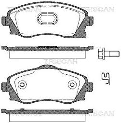 Triscan 8110 24018 Bremsbelagsatz Scheibenbremse 4-teilig