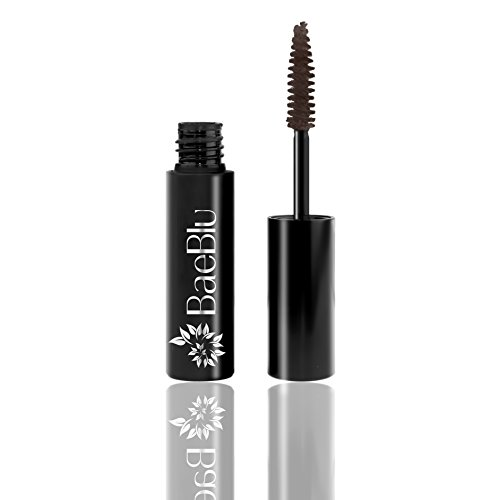 Best Organic 100% Natural Vegan & Gluten Free Mascara, Made in USA by BaeBlu, Brown