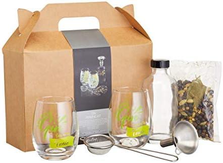 Compra BarCraft BCGINSET6PC - Kit para hacer ginebra en caja de regalo, cristal en Amazon.es