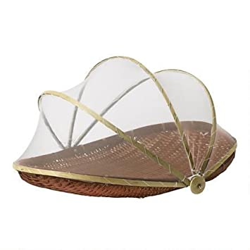 18.5 inch Covered Oval Bamboo Serving Food Tent Basket in Brown  sc 1 st  Amazon India & Buy 18.5 inch Covered Oval Bamboo Serving Food Tent Basket in ...