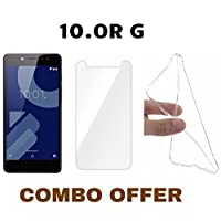 Canyon 2.5D 9H Anti-Fingerprint Oil Stains Coating Hardness Tempered Glass and Back Cover for Tenor 10.OR G (Transparent)