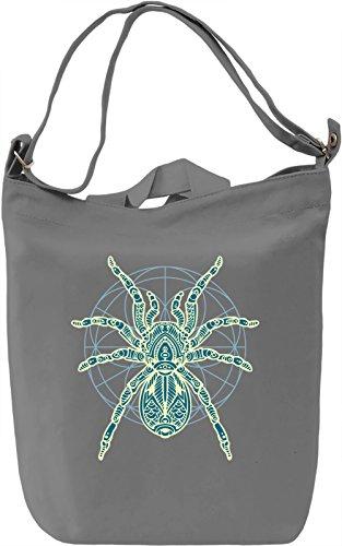 Spider Borsa Giornaliera Canvas Canvas Day Bag| 100% Premium Cotton Canvas| DTG Printing|
