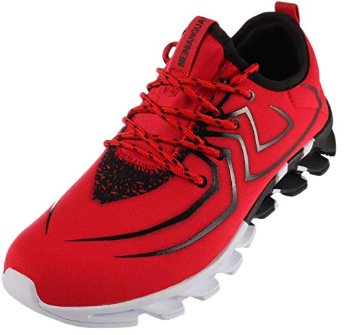 - BRONAX Tennis Shoes for Men Comfortable Slip on Gym Sport Fitness Workout Athletic Sneakers Zapatos de Hombre Red Size 9.5