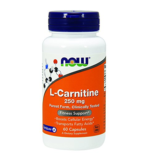 NOW Foods L carnitine 250mg, 60 Capsules