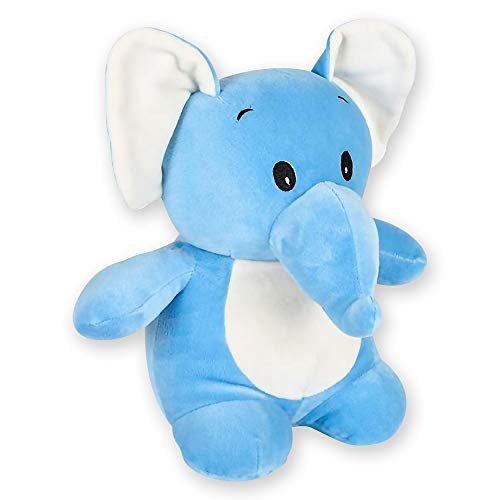 ArtCreativity Softies Elliot the Baby Elephant - 11 Inch Plush Stuffed Animal - Super Soft and Cuddly Baby Toy - Cute Nursery Decor - Best Gift for Baby Shower, Boys, Girls, Newborn, Infant, Toddler