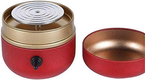 Mini Electric Pottery Wheel Machine Small Pottery Forming Machine with Tray for DIY Ceramic Work Clay Art Craft (Red)