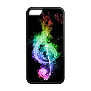 6 plus Phone Cases, Colorful Musical Note Hard pc hard Rubber Cover Case for iphone 6 plus