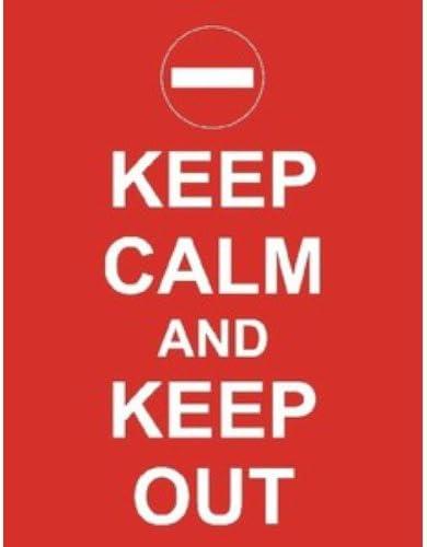 Keep Calm And Keep Out grande en caja lienzo mantener la calma y ...