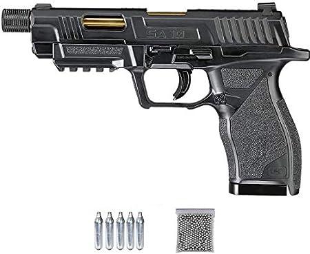 Umarex UX SA10 (blowback | Pack Pistola de balines (perdigones o Bolas de Acero BB's). Arma de Aire comprimido CO2 Calibre 4,5mm <3,5J