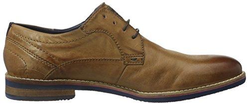 Bugatti 312170013500, Zapatos de Cordones Derby para Hombre Braun (cognac 6300)