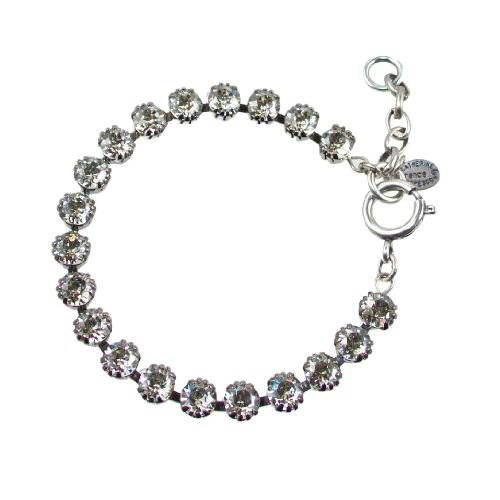 Catherine-Popesco-Silver-Plated-Tennis-Bracelet-with-Shade-Swarovski-Crystals-75