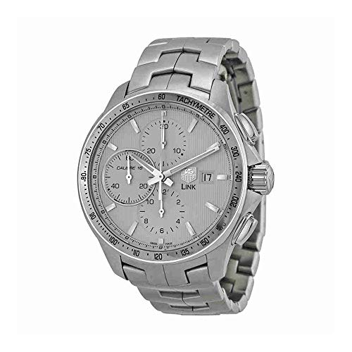 TAG Heuer Men's CAT2011.BA0952 Link Chronograph Watch (Chronograph Gents Watch Tachymeter)