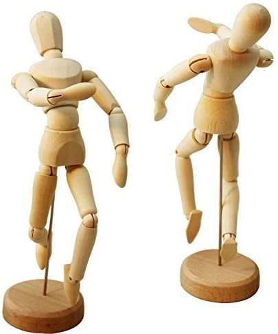 Flexible and Moveable Wooden Manikin Artists Model (Male, Female) for Sketching, Drawing, Painting [Hsomid] detail review