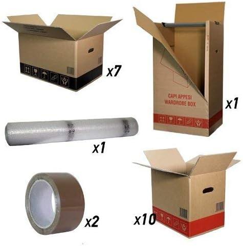 Kit Mudanza Economy 1/2 habitaciones Color 18 cajas cartón, cinta: Amazon.es: Hogar