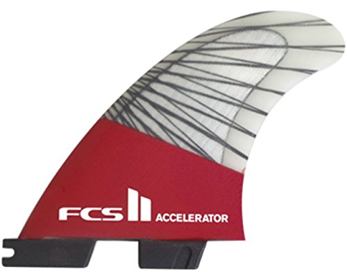 New Fcs Surf Ii Accelerator Pc Carbon Tri Fin Set Red ()