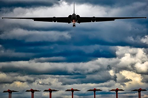 LAMINATED 36x24 Poster: U-2 Air Force Military Airplane Jet Travel Transportation Sky Clouds Sunset Silhouettes Landing Spy Plane Hdr Aircraft (Air Force Aircraft Photos)