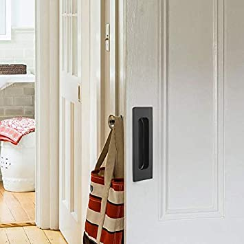Amazon.com: Moderno Negro Flushed tiradores Puertas, cajón ...