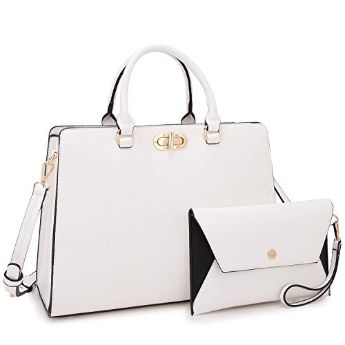 Dasein Women Fashion Handbags Tote Purses Shoulder Bags Top Handle Satchel Purse Set 2pcs